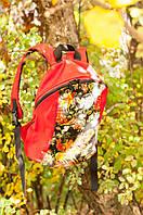 Красный рюкзак тканевый ручной работы «Сказочный» SKU0000326