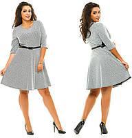 Женское осеннее платье большого размера