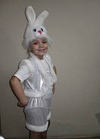 Детский карнавальный костюм Заяц Зайчик белый