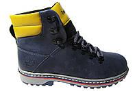 Женские ботинки Timberland натуральная кожа, синие Р. 36 37 38 39 40 41
