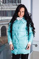 Куртка на двубортной застежке с довязом на рукавах