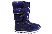 Ботинки женские фиолетовые, дутики. Венгрия. Лаковые Р. 36 37 38 39 40 41