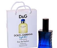 Мини парфюм мужской Dolce & Gabbana Light Blue pour Homme в подарочной упаковке 50 ml