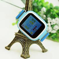 Детские умные часы Smart Baby Watch Q80 с GPS-трекером Голубые