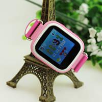 Детские умные часы Smart Baby Watch Q80 Розовые с GPS-трекером