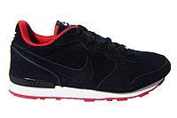 Мужские кроссовки Nike, нубук, синие, Р. 42 43 44 45