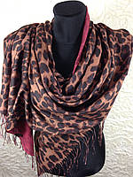 Шерстяной палантин Леопард (2)