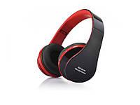 Складные  беспроводные Bluetooth наушники Wireless Headphones  Черный с красным