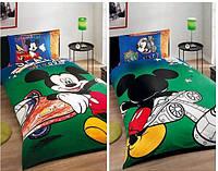 Детский комплект постельного белья Tac Disney Miki Space Whells   простынь на резинке