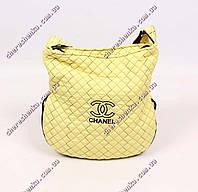 Женская спортивная сумочка стеганая Chanel QB02 Лимонный