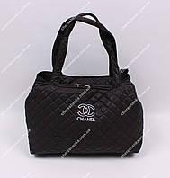 Женская спортивная сумочка стеганая Chanel QB01 Черный