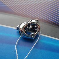 Шарм серебряный Дельфины для браслета Пандора