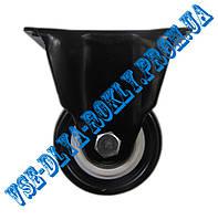 Мебельный ролик Ø 50 мм на неповоротном (глухом) кронштейне