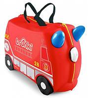 Чемодан детский на колесах Frank Fireman Пожарник Trunki
