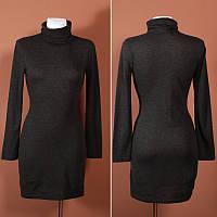Тепленькое платье-гольф из комфортного фабричного трикотажа  DR41208