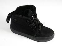 Модные замшевые утепленные ботинки на шнуровке