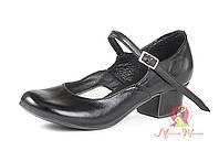 Туфли для народных танцев чёрные 605-03