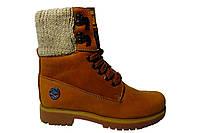 Женские ботинки Timberland польская кожа, мех Р. 36 37 38 39 40 41