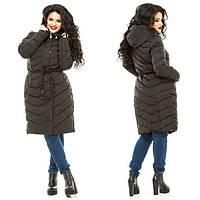 Женская куртка пуховик холлофайбер большого размера 856МШ
