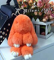 Меховой зайчик брелок на сумку МС 101000