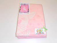 Хлопковое одеяло в роддом (нежно-розовое с котиком)