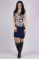 Вязаное женское платье  Подиум в расцветках