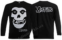 MISFITS - (лого) - рок-футболка с длин. рукав.