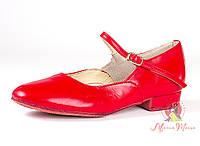 Туфли для народных танцев (каблук 1 см)