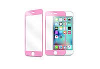 Наклейка на экран - стекло Utty 3D iPhone 6/6S розовое