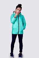 Куртка Подросток двухсторонняя мята и пудра мальчик+девочка