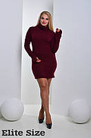 Женское стильное платье больших размеров из ангоры (3 цвета)