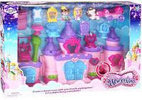 Игровой набор для девочек Замок Beles 16801, 2 фигурки, карета, мебель, звук, свет, на батарейках