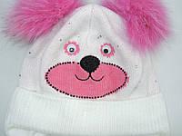 Красивая зимняя шапка для девочки