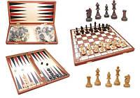 Игра Шахматы и Нарды 2в1 29см