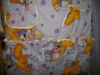 Постельный набор в детскую кроватку Мишки на звезде сиреневое 10 эл.