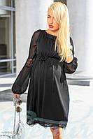 Легкое платье для беременных. Цвет черный.