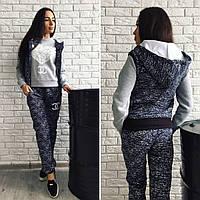 """Стильный утепленный спортивный костюм тройка """" Chanel Сердце """" Dress Code"""