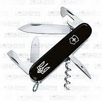 Нож Victorinox Spartan 1.3603.3R1, черный с трезубцем, 13 функций