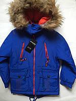 Парка зима, одежда для мальчиков 122-140