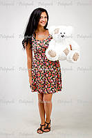 Большой плюшевый мишка, медведь Тэдди 50см белый