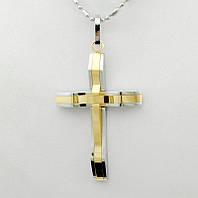 Мужской крест из стали с титановым покрытием