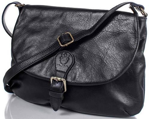 Удобная женская кожаная сумка ETERNO (ЭТЕРНО), черная, ETK179-2
