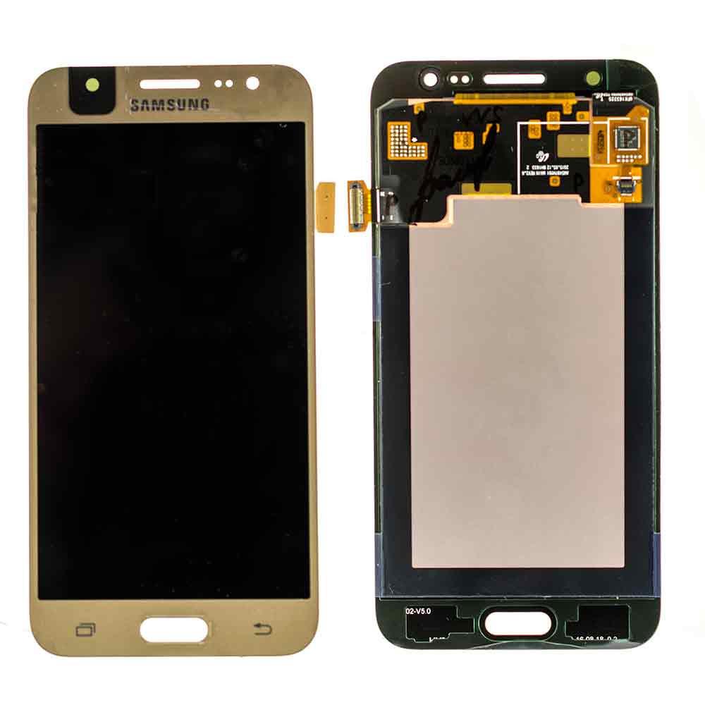 Дисплей Samsung J500H Galaxy J5 с тачскрином золотой Оригинал GH97-17667C