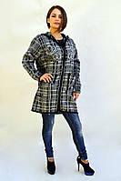 Махеровая куртка в модный принт