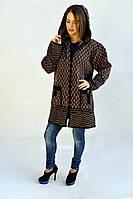 Молодежная куртка с абстрактным принтом