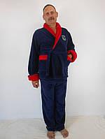 Мужской теплый домашний махровый костюм