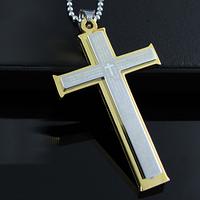 """Крест мужской """"Holy Bible"""" с цепочкой"""
