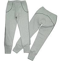 Лосины-брюки для девочки с начесом