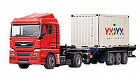 Картонная модель Тягач с контейнером 374 УмБум