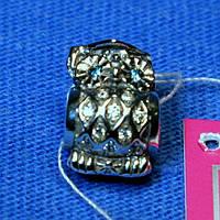 Шарм из серебра Сова копия Пандора 3011